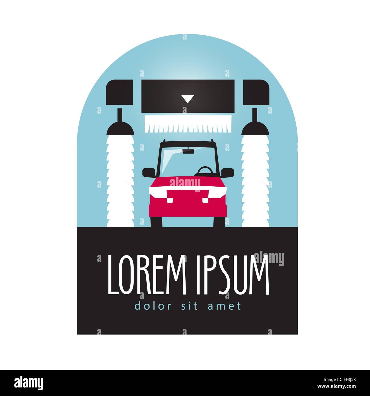 Auto-Waschanlagen Vektor-Logo-Design-Vorlage. Transport oder ...