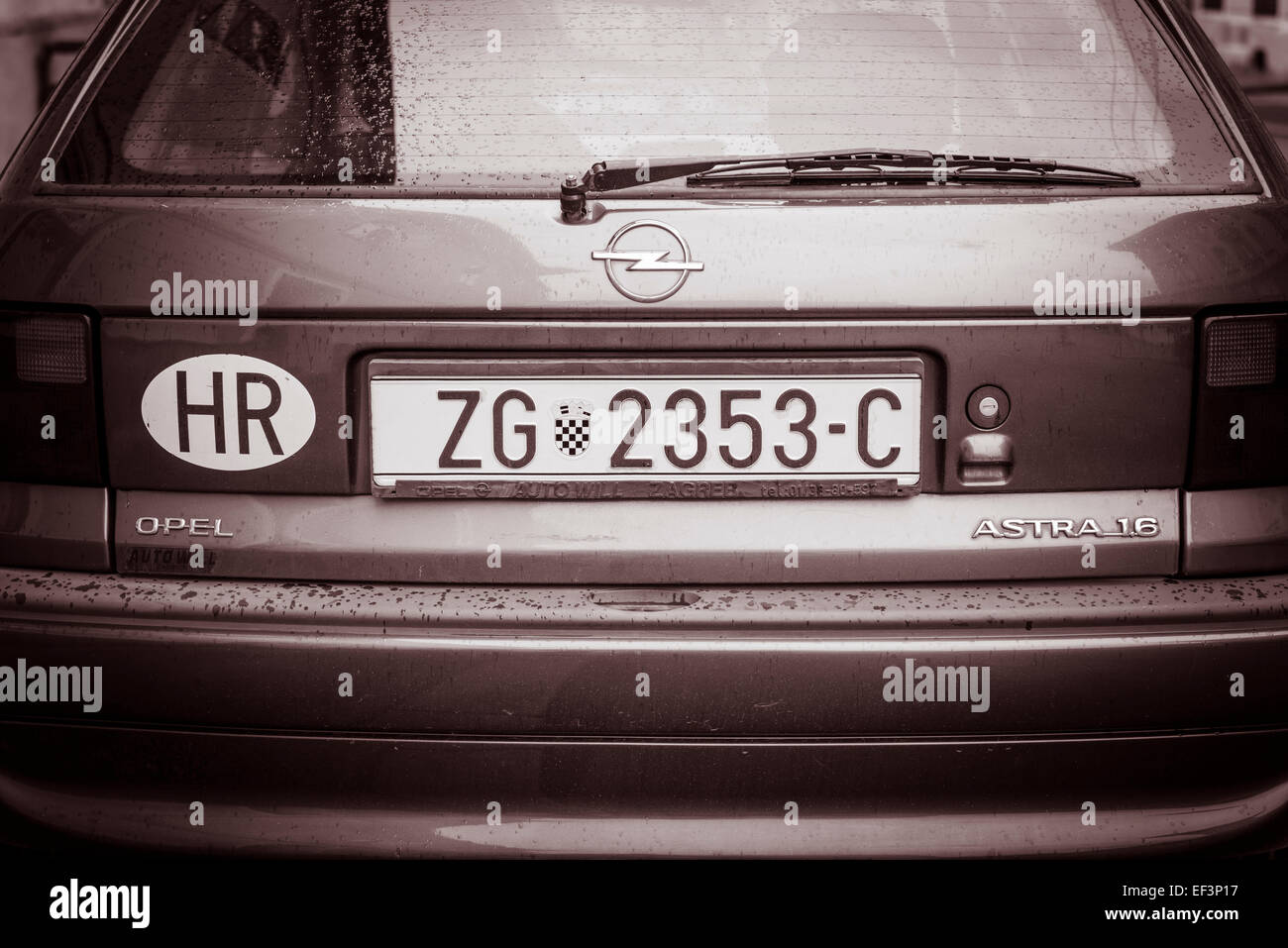 Car Auto License Plate Tag Stockfotos & Car Auto License Plate Tag ...