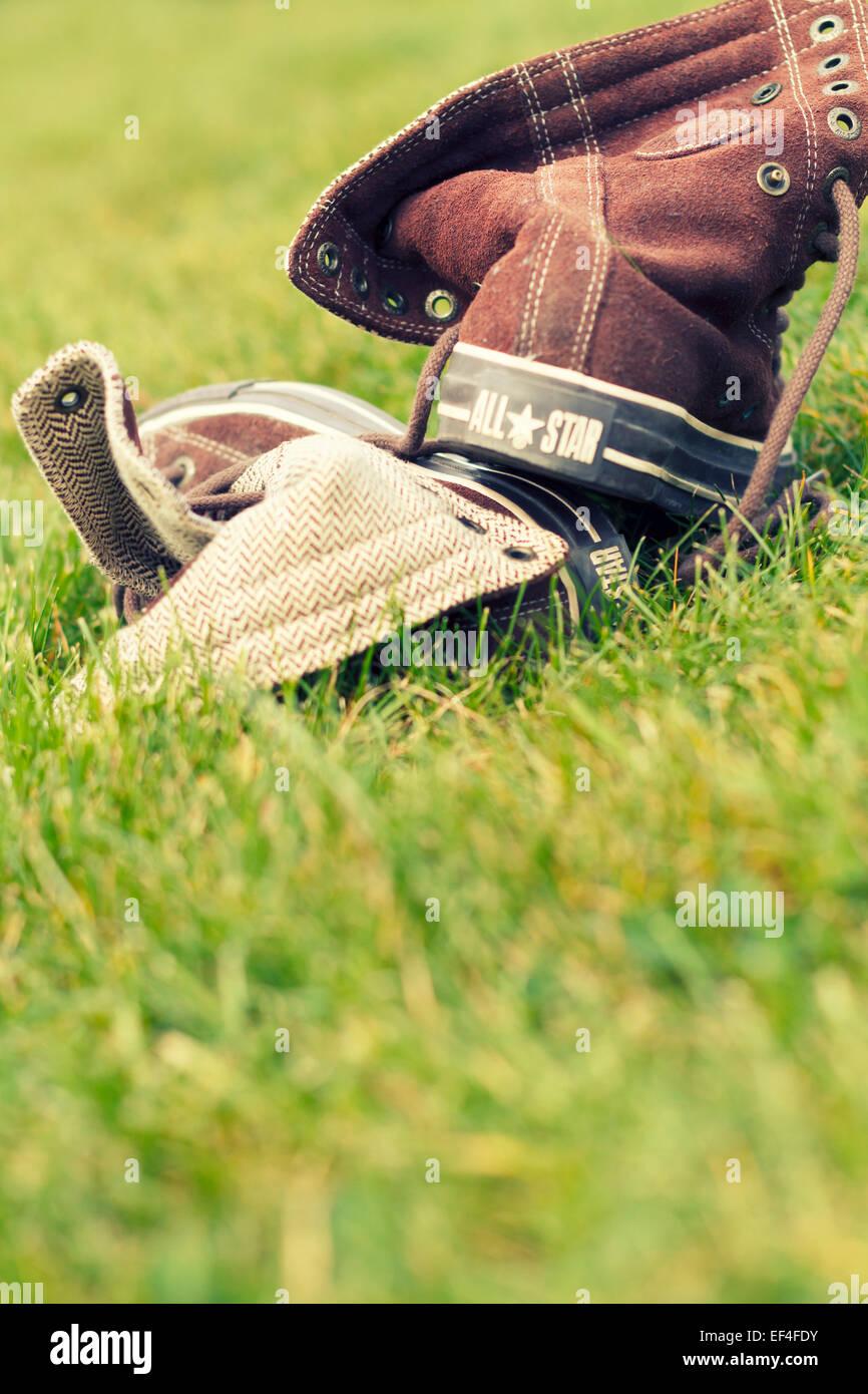 all-star Converse Schuh, Rückansicht Stockbild