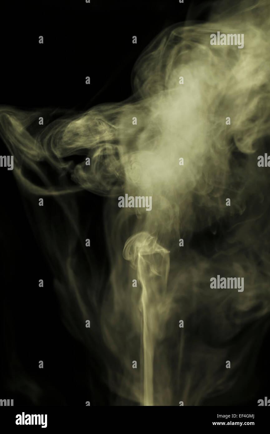 Hintergrundbeleuchtung auf Rauch Stockbild
