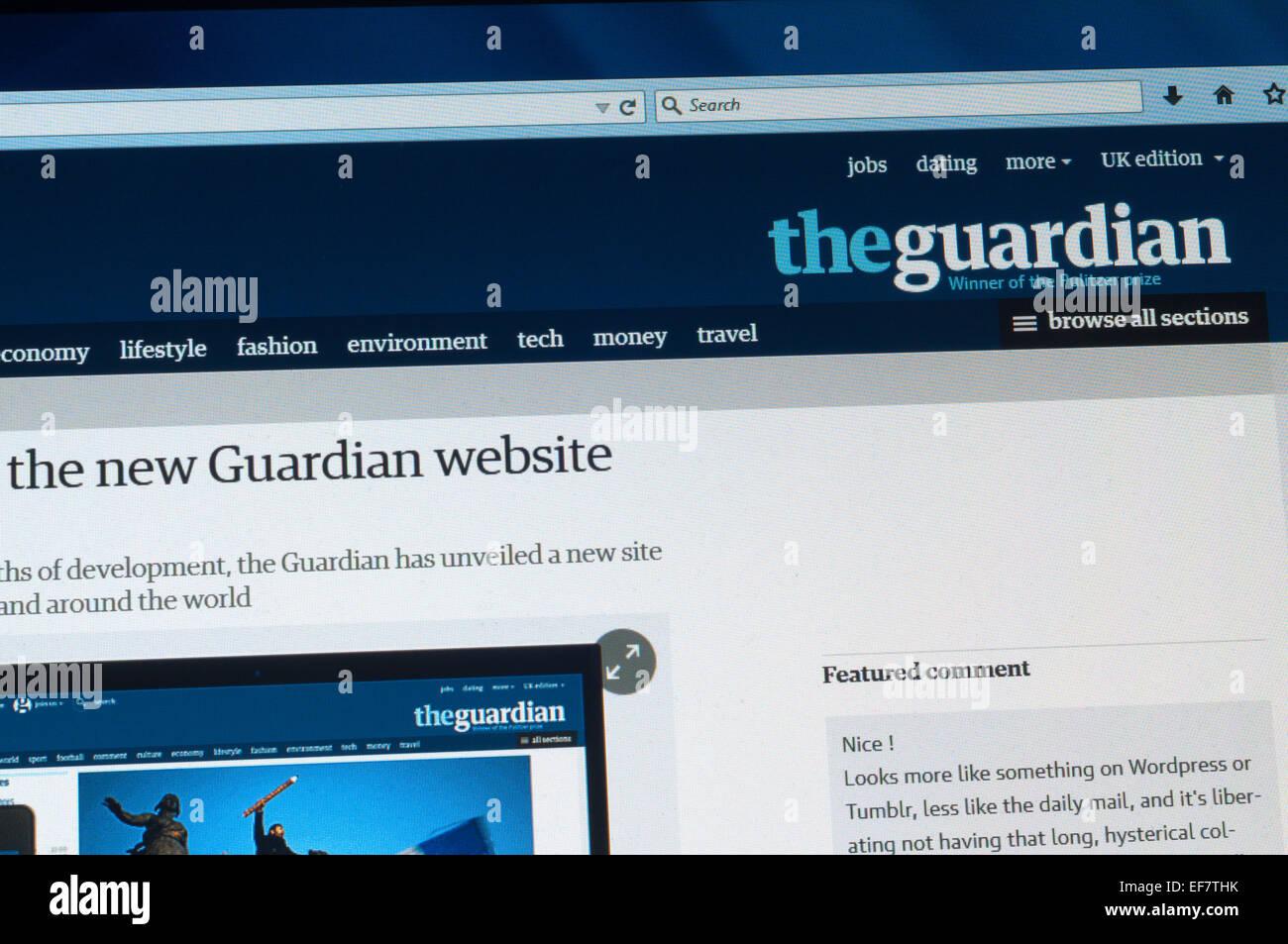 Vereinigtes Königreich 28 Januar 2015 Englische Zeitung The
