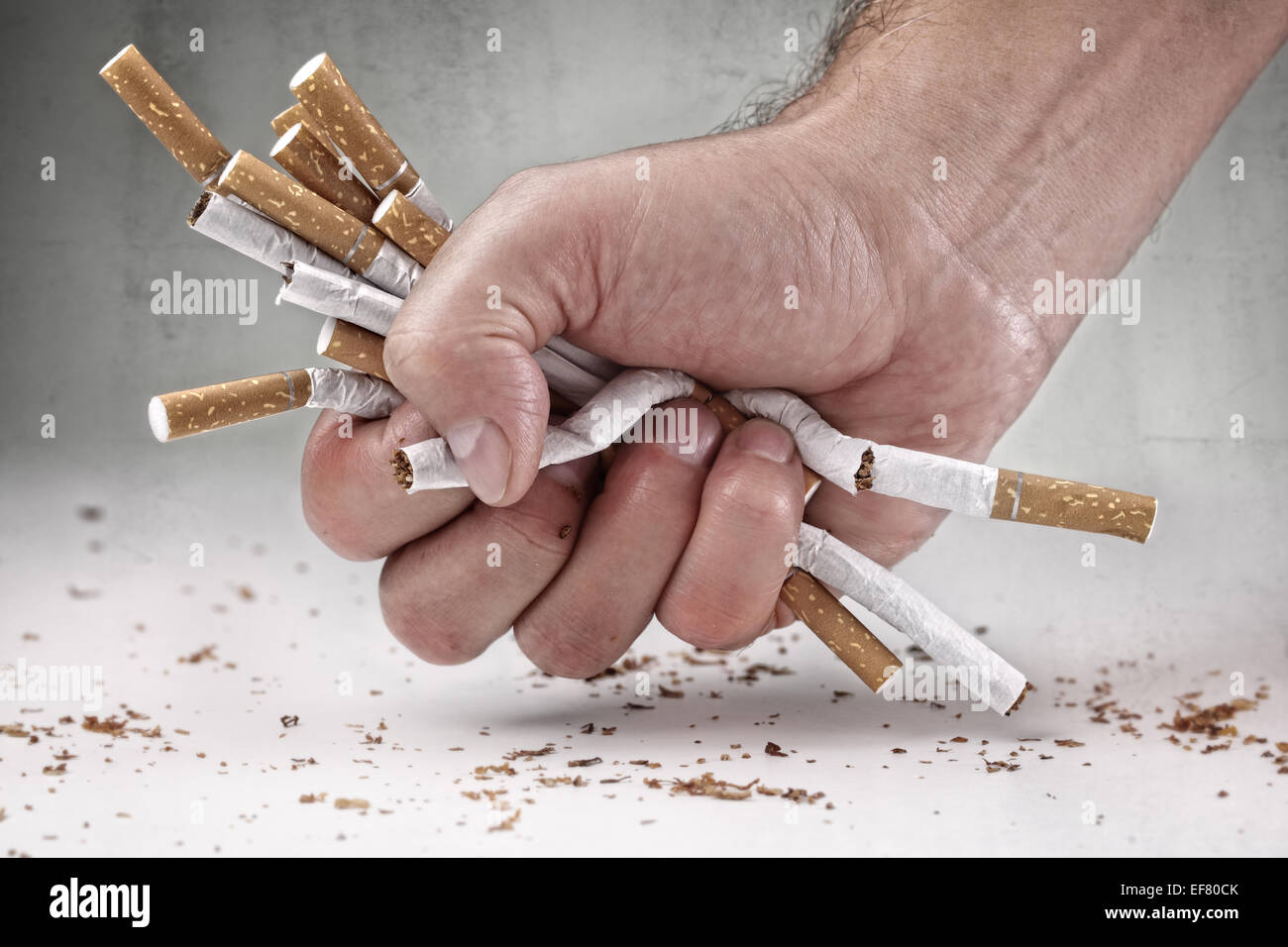 Aufhören zu rauchen Stockbild