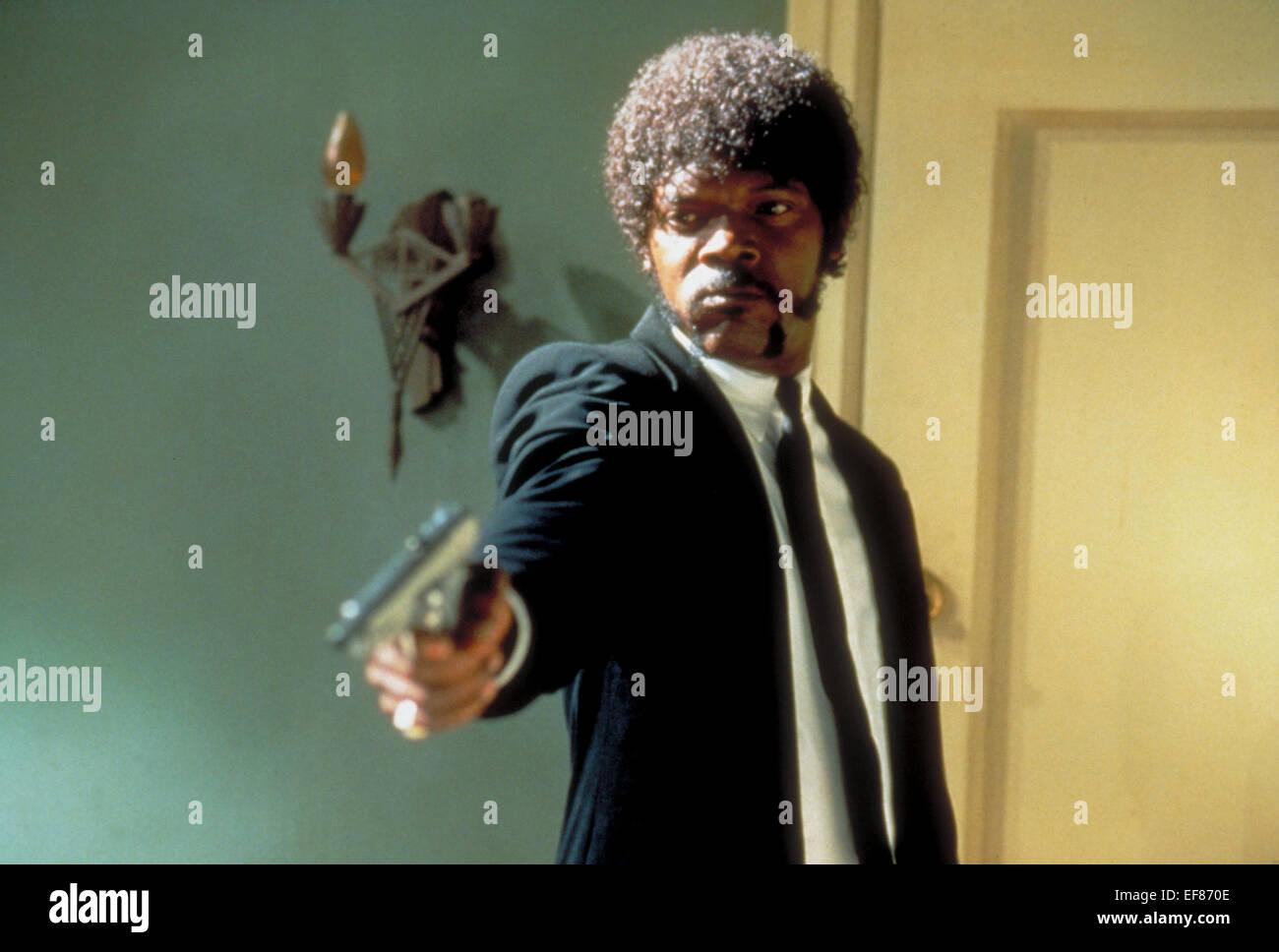 PULP FICTION Samuel L Jackson (1994) Stockbild