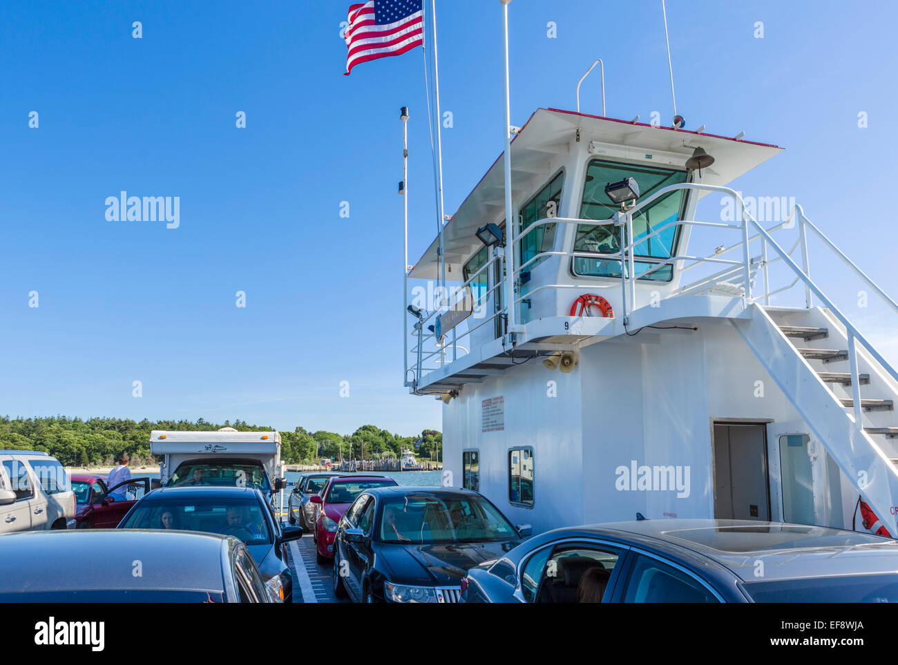 South Ferry zwischen der South Fork und Shelter Island, Suffolk County, Long Island, NY, USA Stockbild