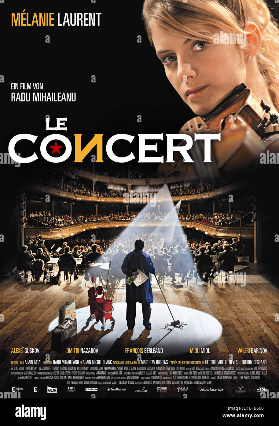 FILM POSTER LE CONCERT; DAS KONZERT (2009) Stockbild