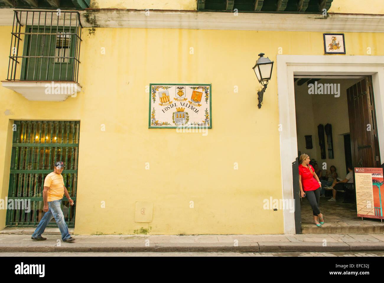 Kuba Altstadt Havanna La Habana Vieja Hostal Valencia-Boutique-Hotel war 18. Jahrhundert Haus 1. Stock Casa del Stockbild