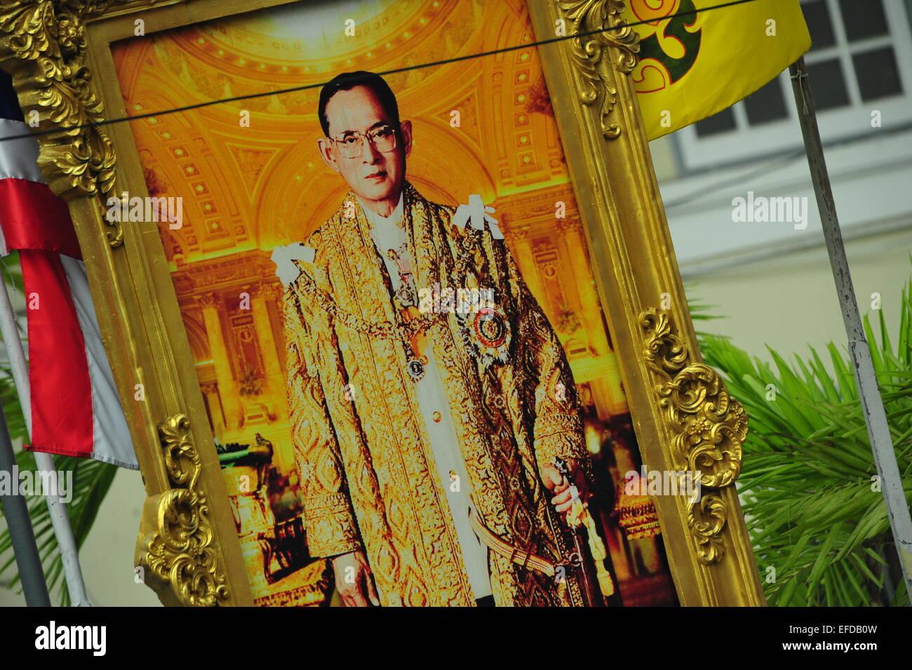 König von Thailand, Bangkok, Thailand. Nur zur redaktionellen Verwendung. Stockbild