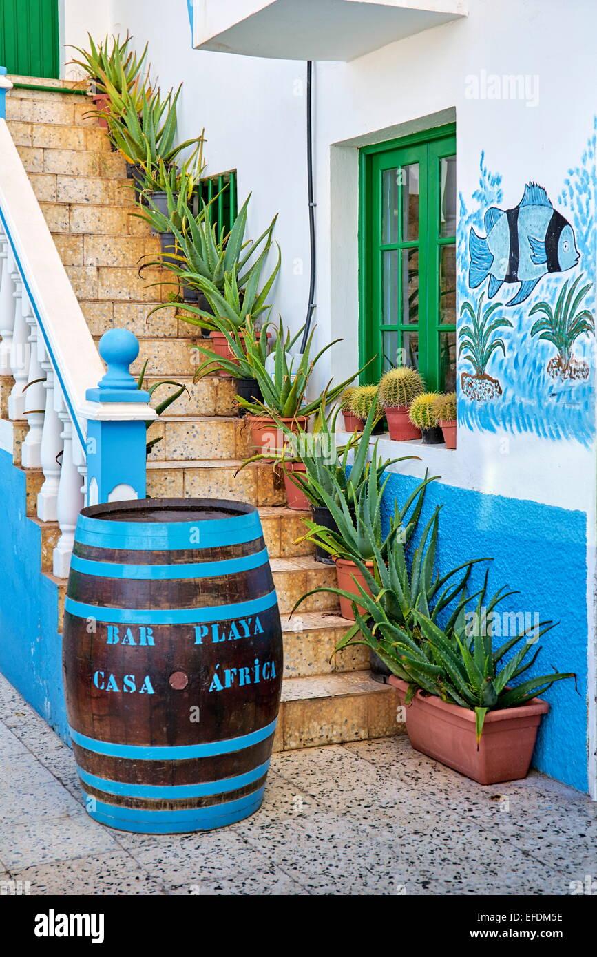 Afrika Restaurant Casa, Taganana, Teneriffa, Kanarische Inseln, Spanien Stockbild