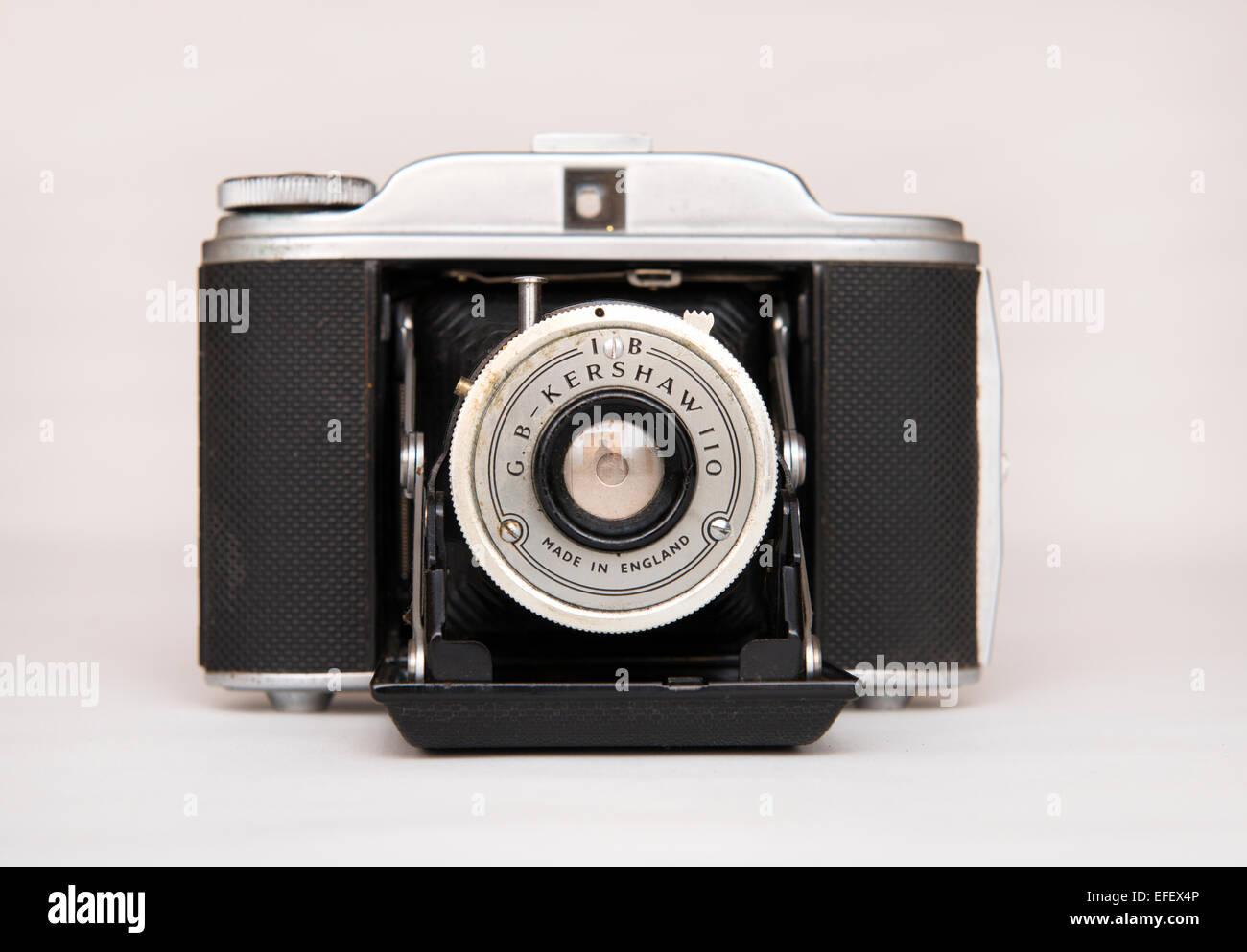 Kershaw 110 Falt-Kamera, zuerst im Jahre 1954 von G B Kershaw of Leeds in England. Stockbild