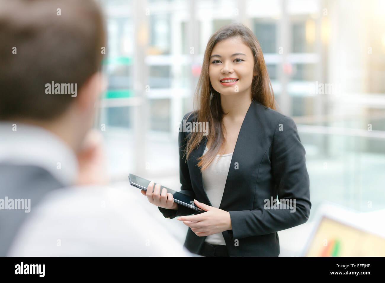 Porträt von einem asiatischen Geschäftsfrau Stockbild