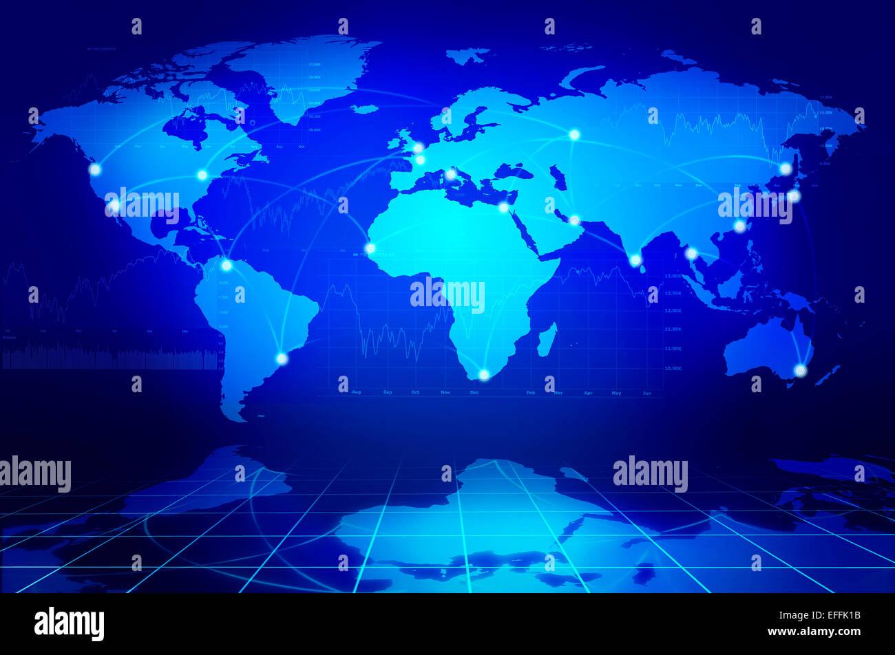 Globalen Netzwerk-Konzept Stockbild