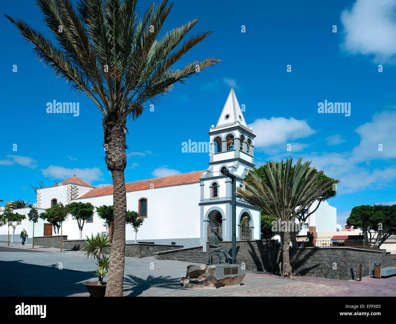 Kirche, Puerto del Rosario, Fuerteventura, Kanarische Inseln, Spanien Stockbild