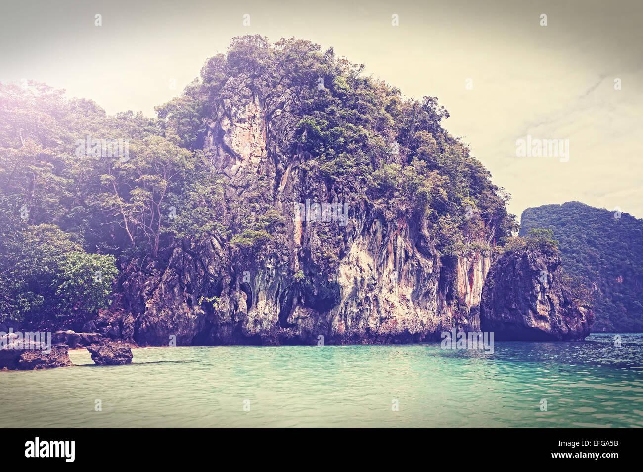 Vintage gefilterte Bild der Insel, Andaman Meer Thailand. Stockbild