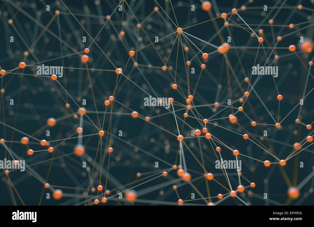 Zusammenfassung Hintergrund der Leitungen und Anschlüsse. Stockfoto