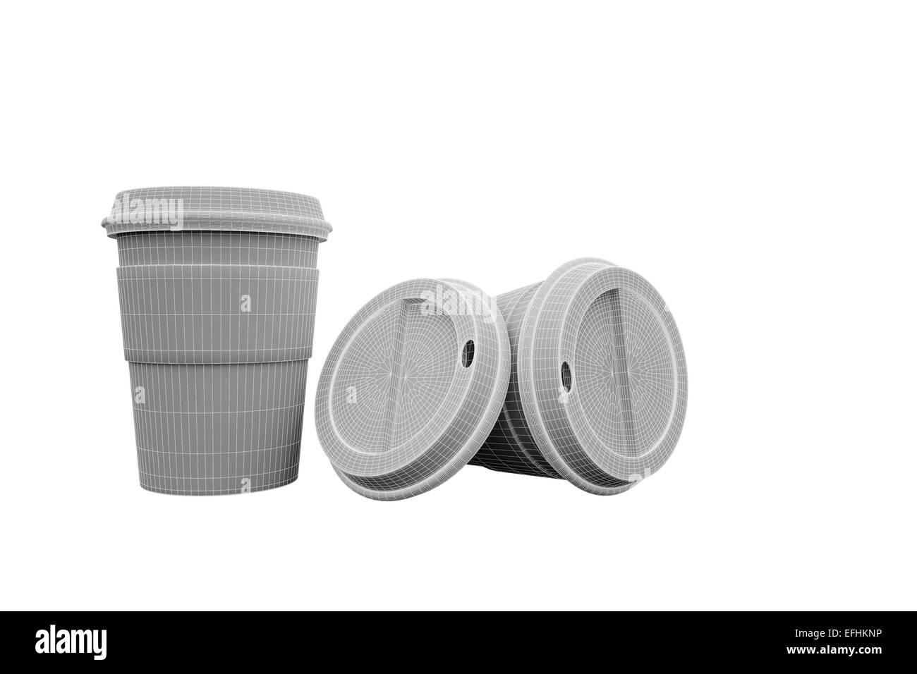 Amerikanische Kaffeetasse gemacht in der Computergrafik Stockbild