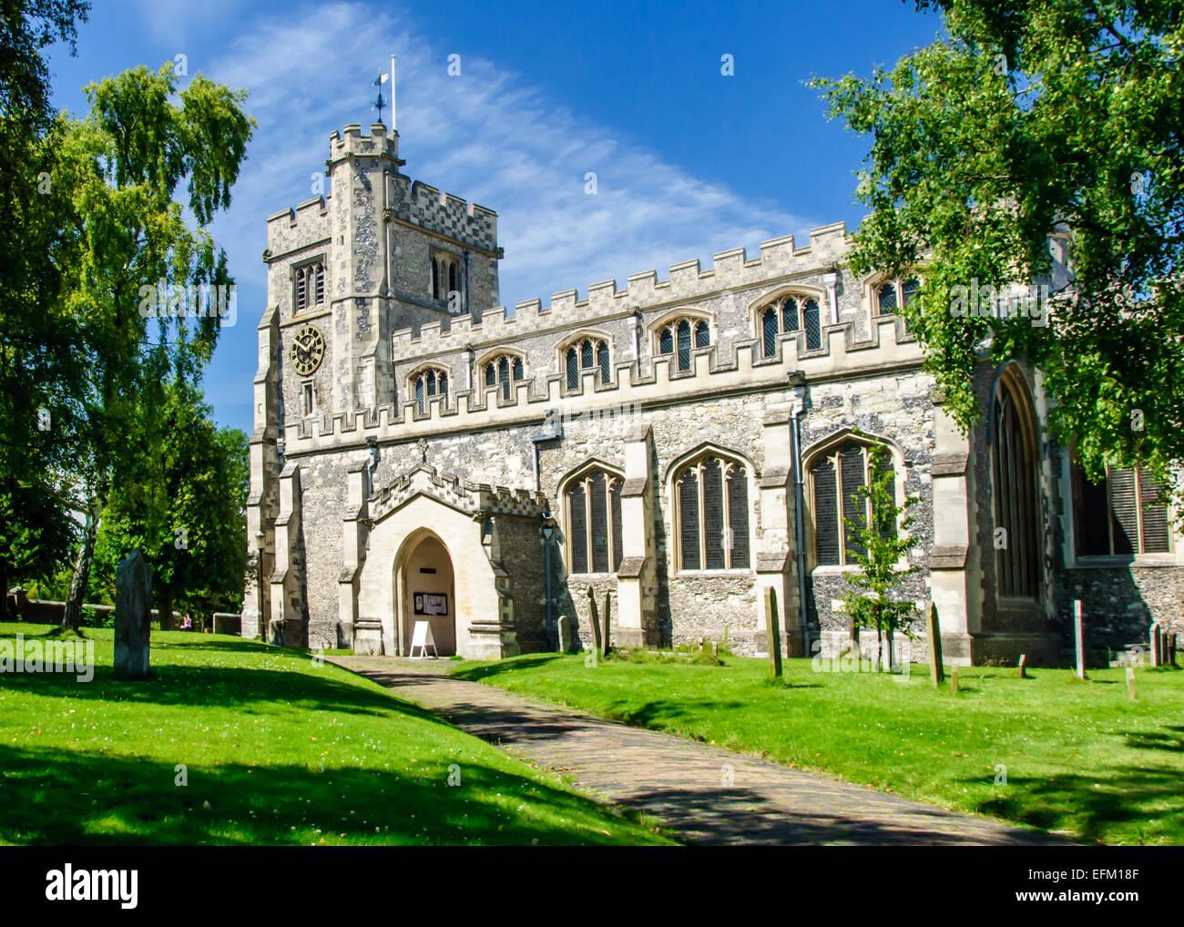 Die Pfarrkirche St. Peter & St Paul, Tring, Hertfordshire, England, Vereinigtes Königreich Stockbild