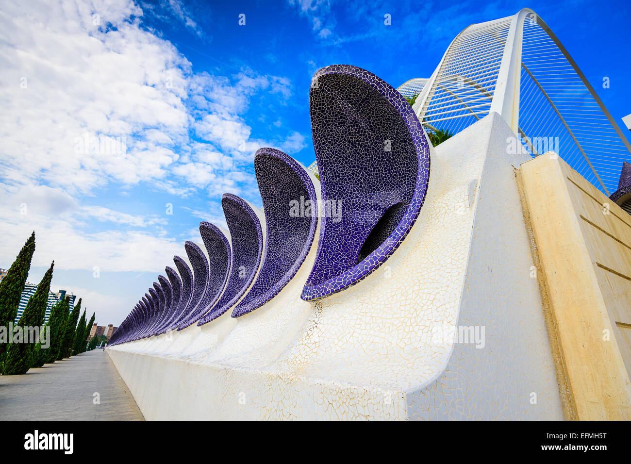 Valencia, Spanien Bürgersteig Ansicht. Stockbild
