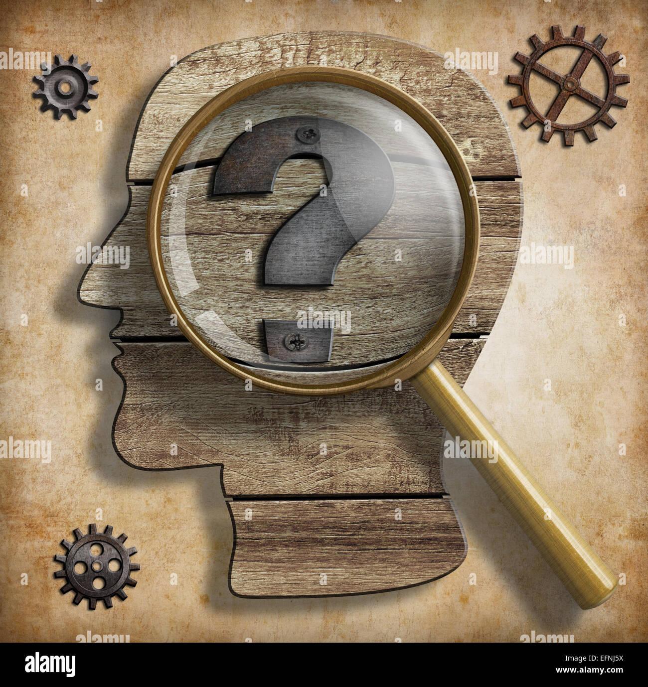 Konzept, Idee oder Erfindung und Kreativität. Stockbild