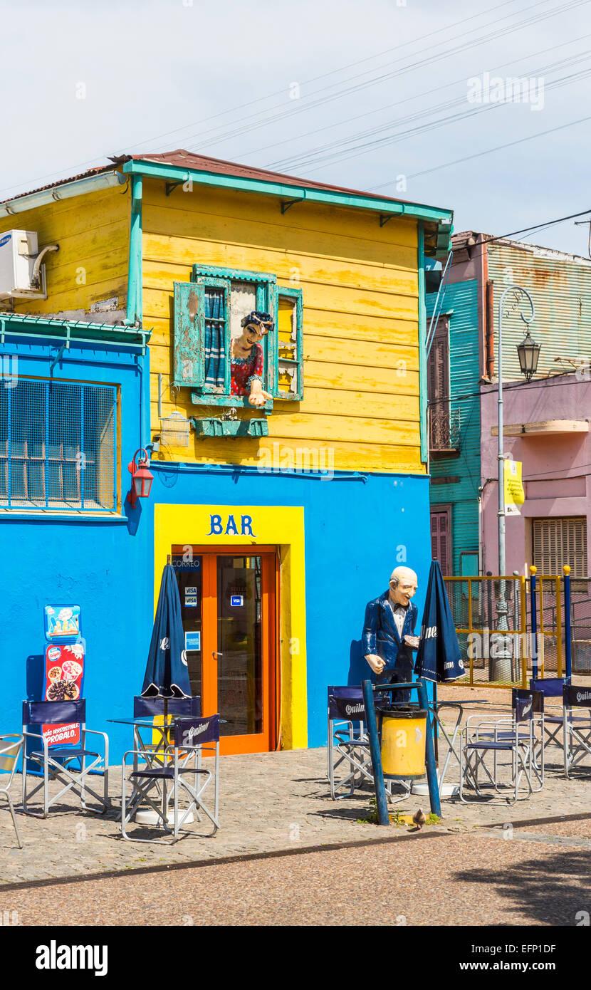 Farbenfrohe bar Gebäude in La Boca, Buenos Aires, Argentinien mit ...