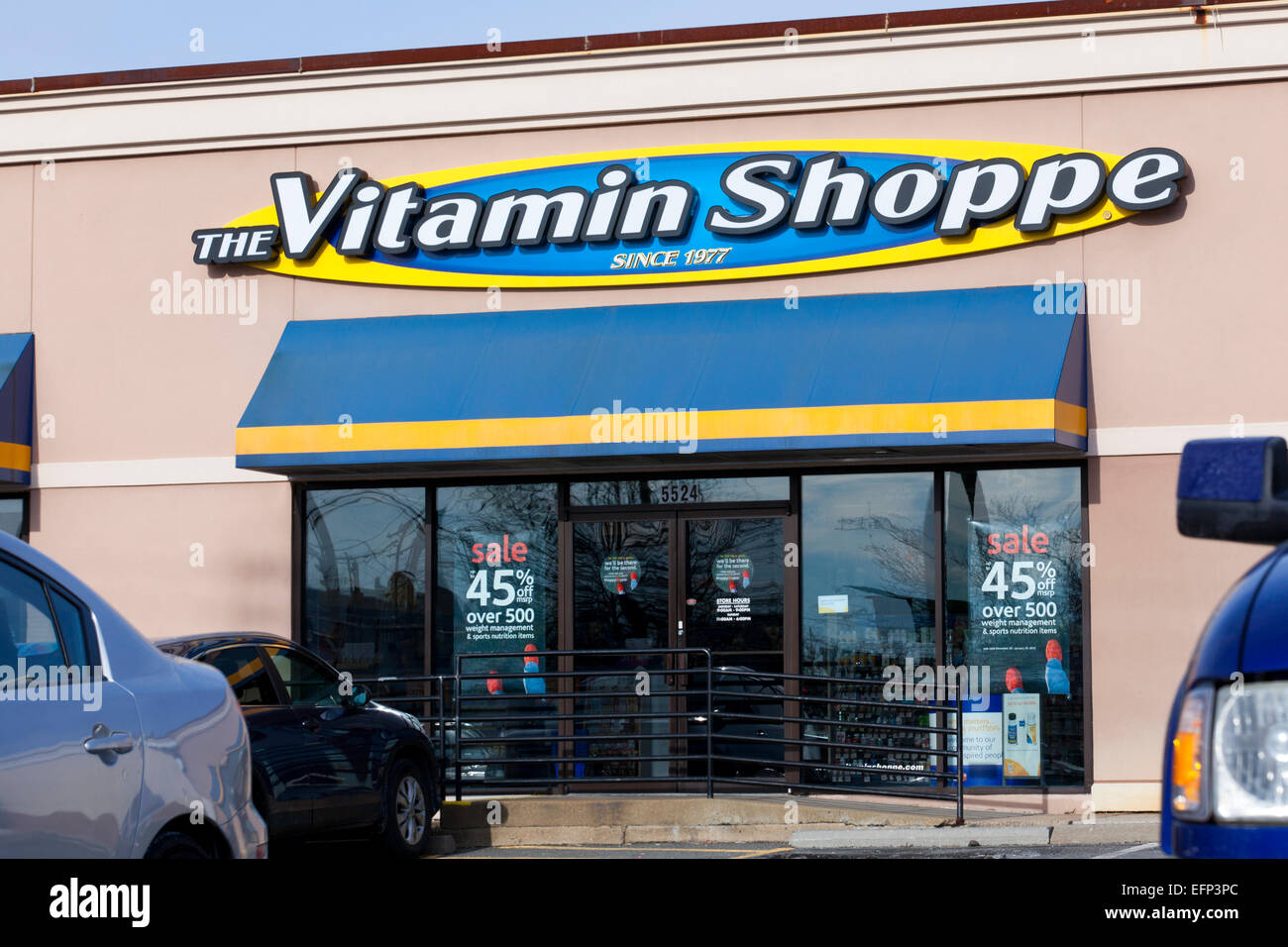 Vitamin Shoppe Schaufenster - USA Stockbild