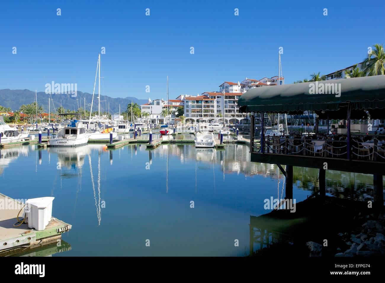 Marina, Puerto Vallarta, Jalisco, Mexiko, Nordamerika Stockbild