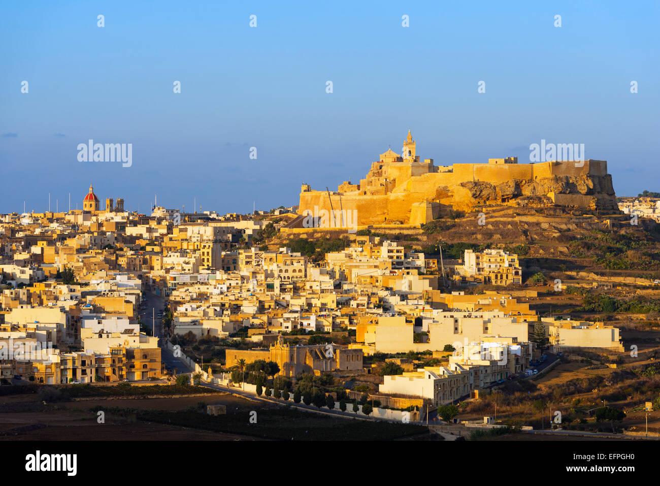 Il-Kastell Zitadelle, Victoria (Rabat), Insel Gozo, Malta, Mittelmeer, Europa Stockbild