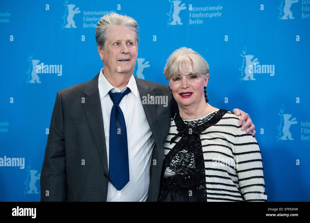 Musiker Brian Wilson Beach Boys Und Frau Melinda Ledbetter Besucht Den Fototermin Der Liebe