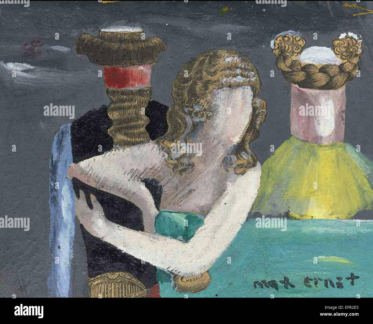 Max Ernst Les Visiteurs du Dimanche Stockbild