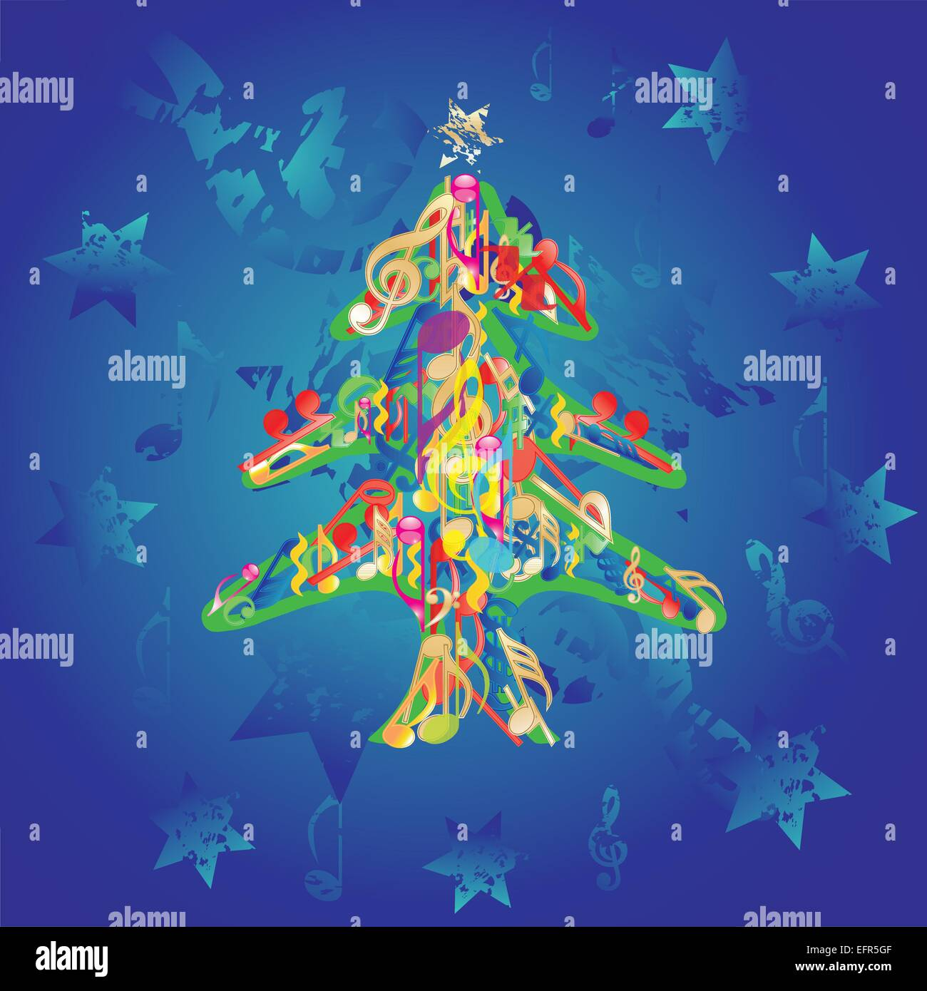Musical christmas tree background vector stockfotos musical christmas tree background vector - Weihnachtsbaum vektor ...