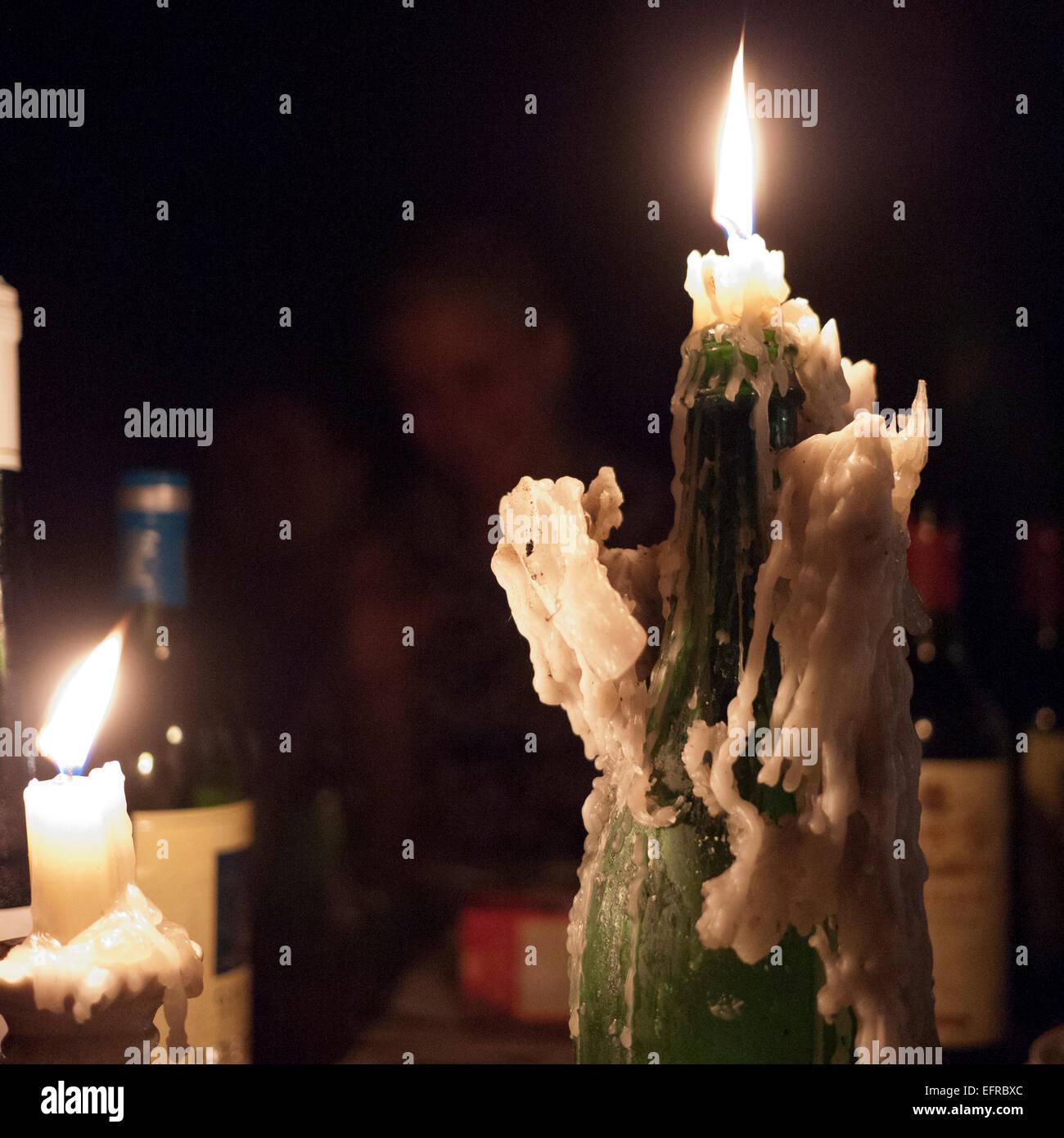 Schmelzende Kerzen Stockbild