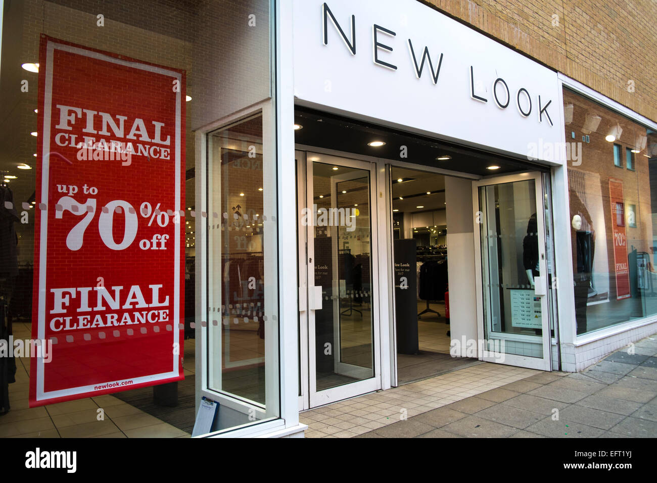 New Look Store, Norwich, Norfolk, Großbritannien Modekette New Look ...