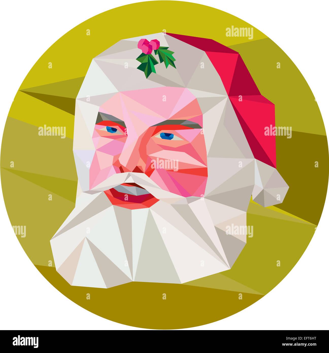 Niedrige Polygon Abbildung von Santa Claus Sankt Nikolaus Vater ...