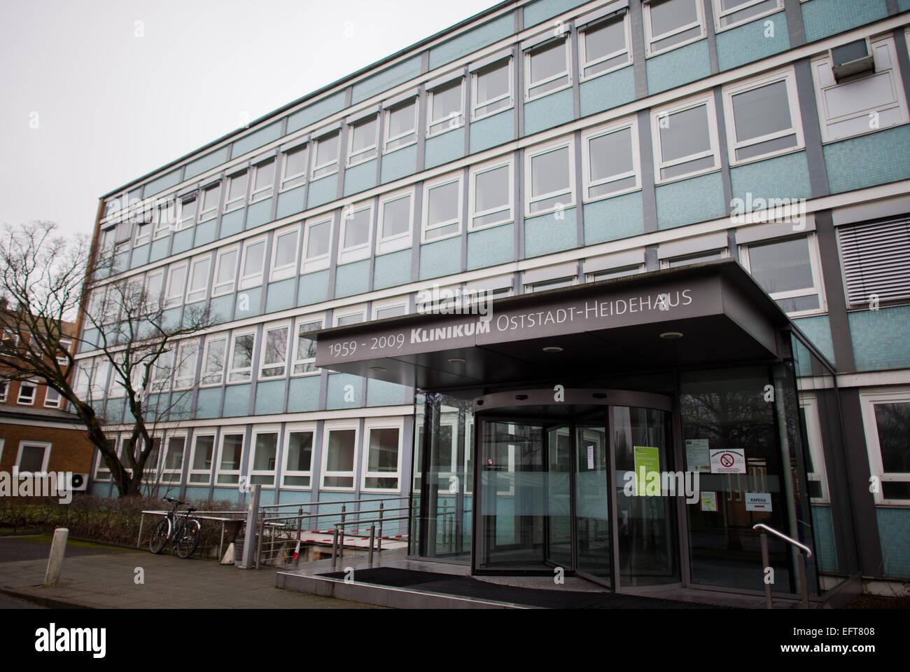 Krankenhaus Oststadt-Heidehaus Stände geschlossen in Hannover, 10. Februar 2015. Die Untersuchungen auf dem Stockbild