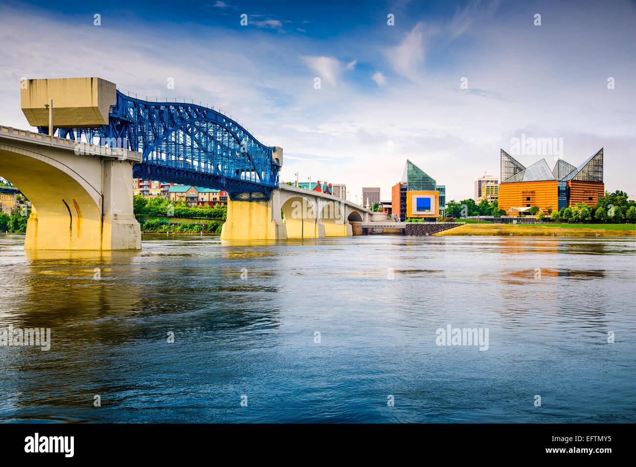 Skyline der Innenstadt Stadt Chattanooga, Tennessee, USA. Stockbild