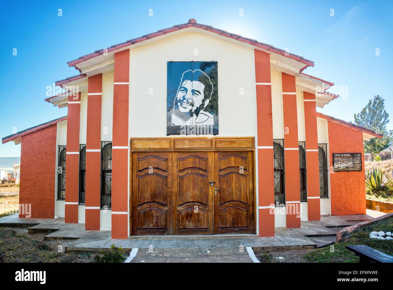 Mausoleum des ursprünglichen Grab von Ernest Che Guevara in Vallegrande, Bolivien Stockbild