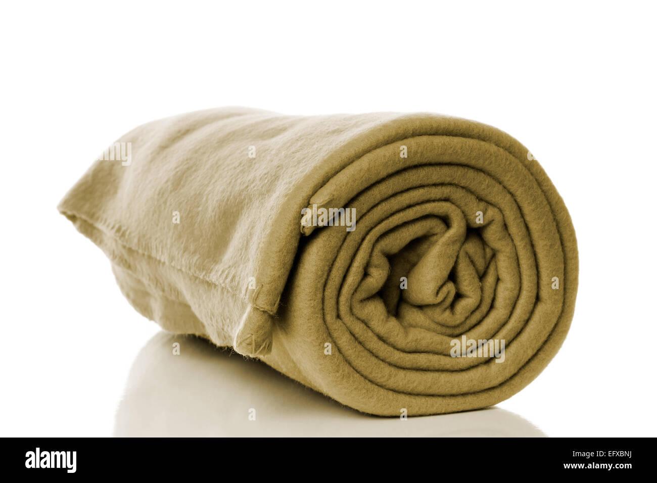Fleece Decke In Der Farbe Khaki Oder Olivgrün