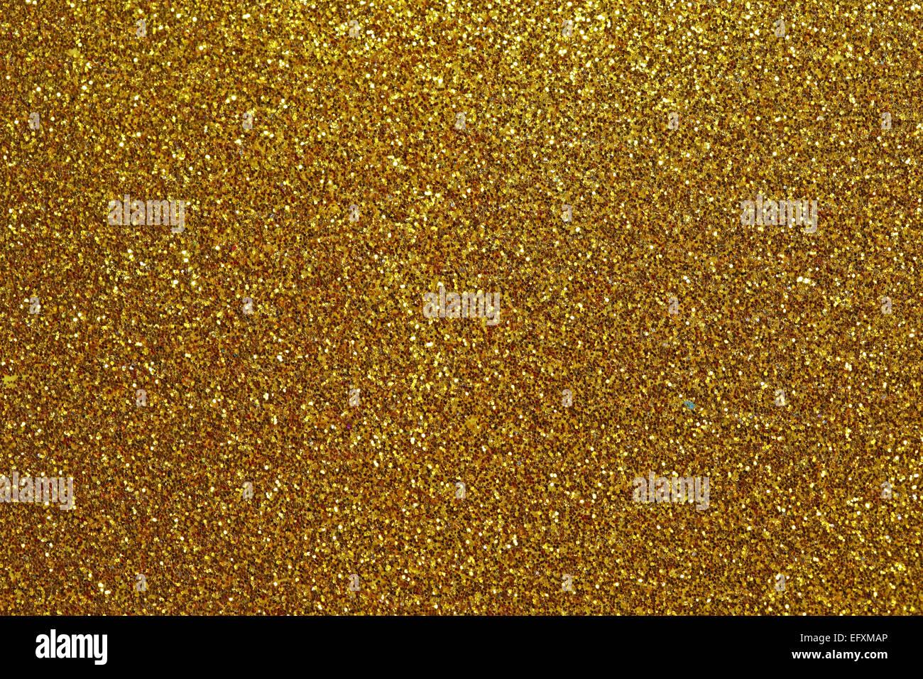 Glitter für Textur oder Hintergrund - Gold Stockbild