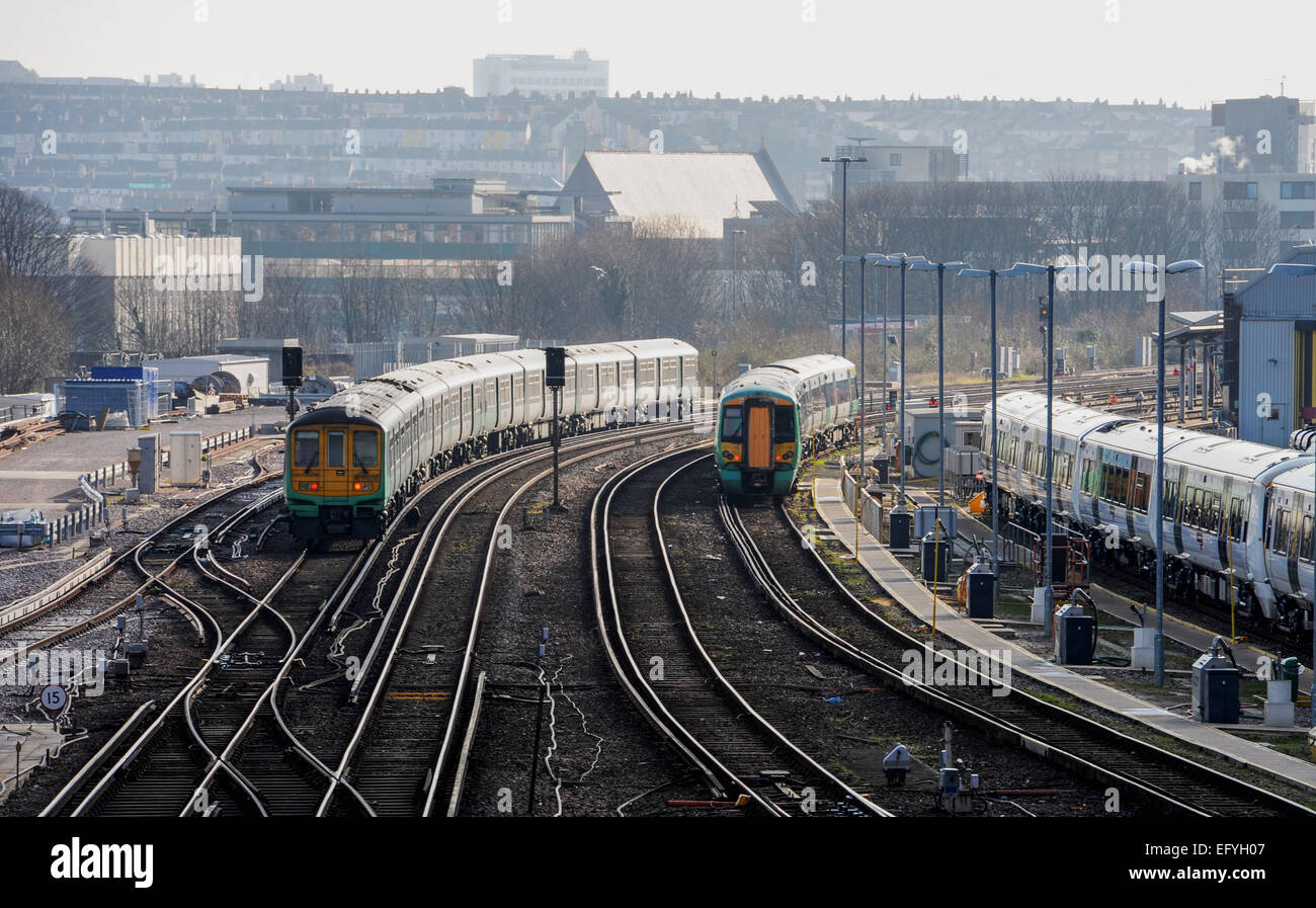 The Brighton Line England Stockfotos & The Brighton Line England ...