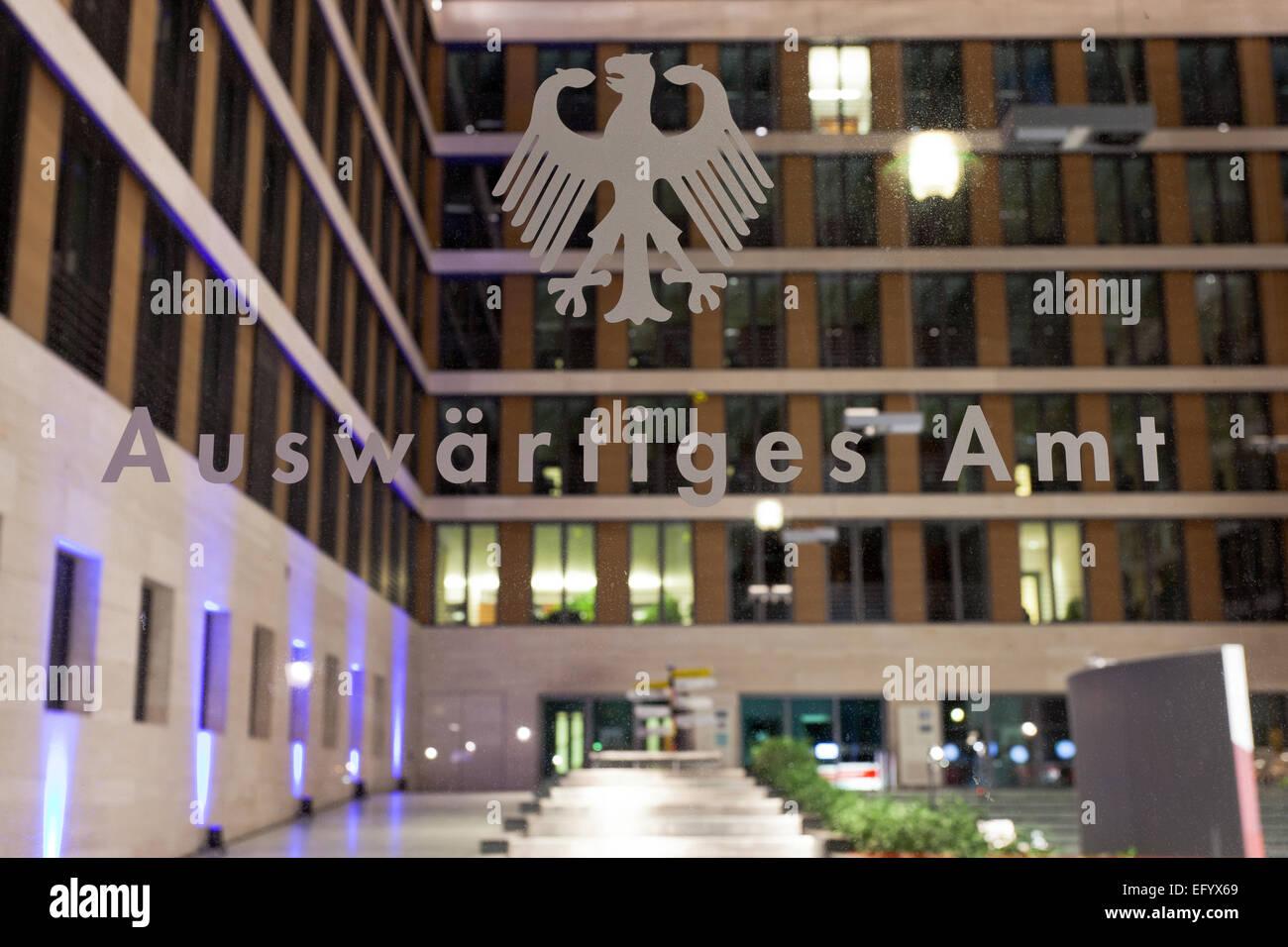Interieur Architektur des Foyers der deutschen Abteilung für auswärtige Angelegenheiten; Foto: 27. Januar Stockbild