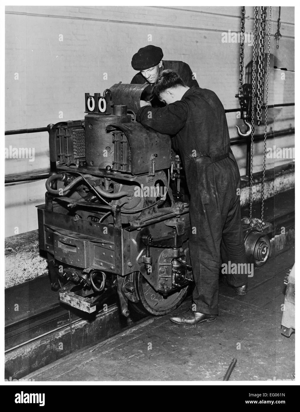 Postamt Untergrundbahn - Mechanik. Es lief für 22 Stunden am Tag von 1927-2003 und an seiner Spitze es beschäftigt Stockbild