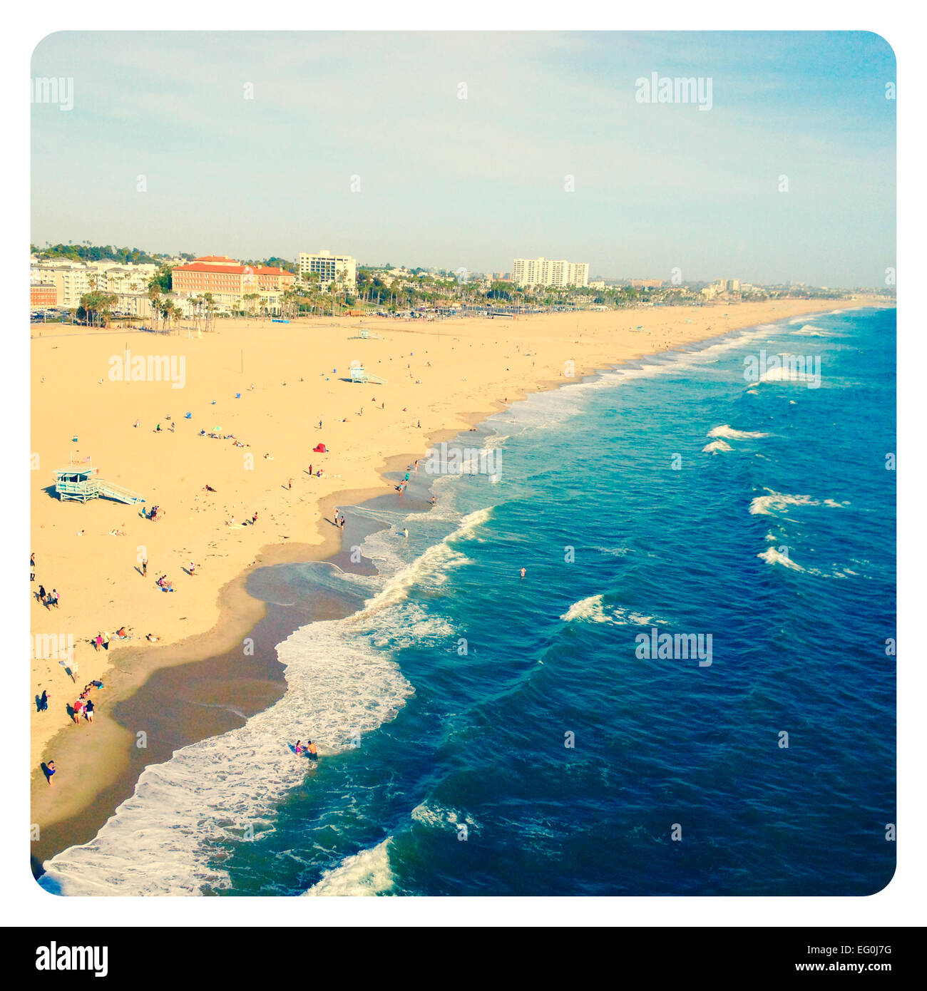 Santa Monica Beach, Kalifornien, Amerika, USA Stockbild