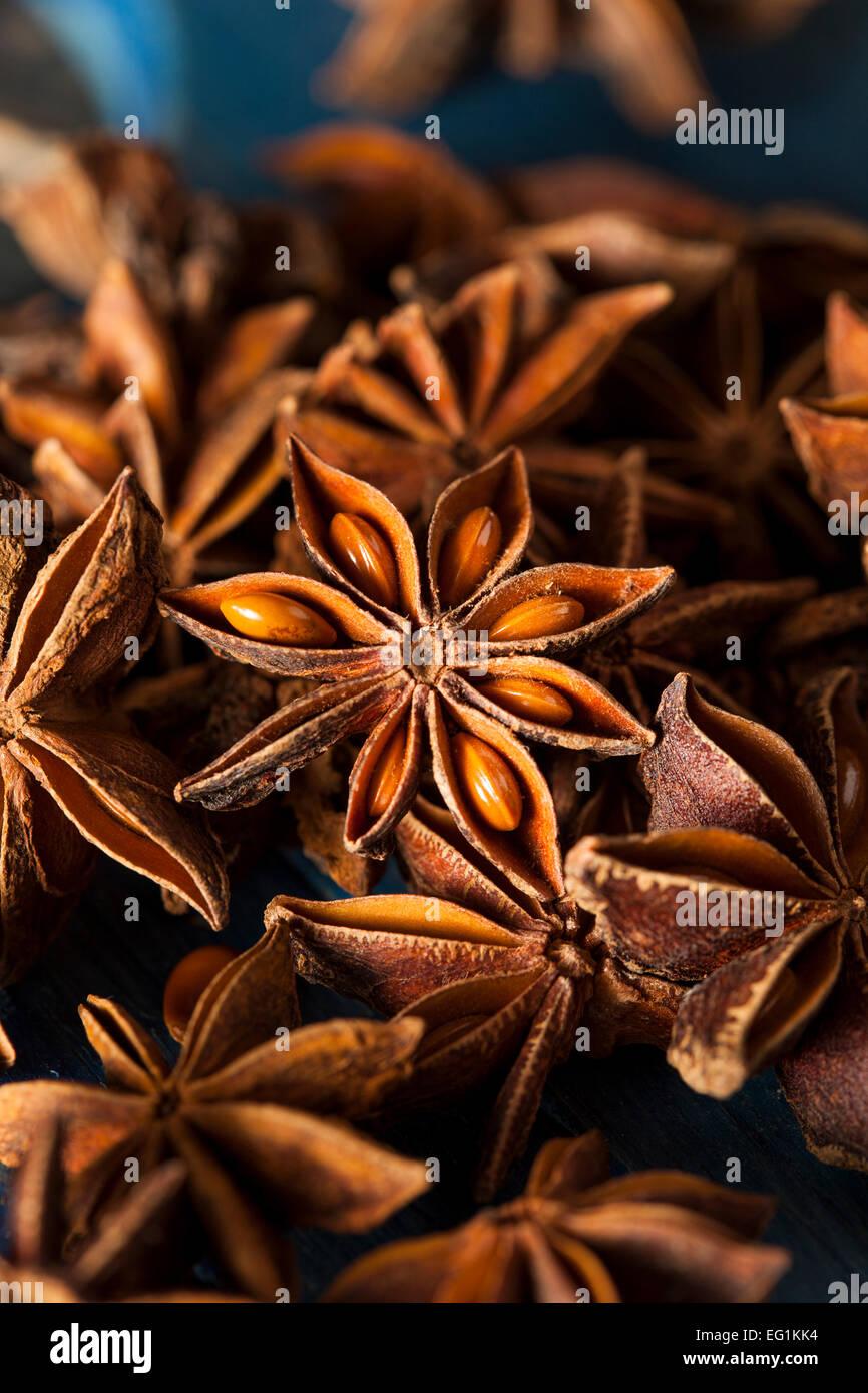 Bio trocken Stern Anis auf einem Hintergrund Stockbild