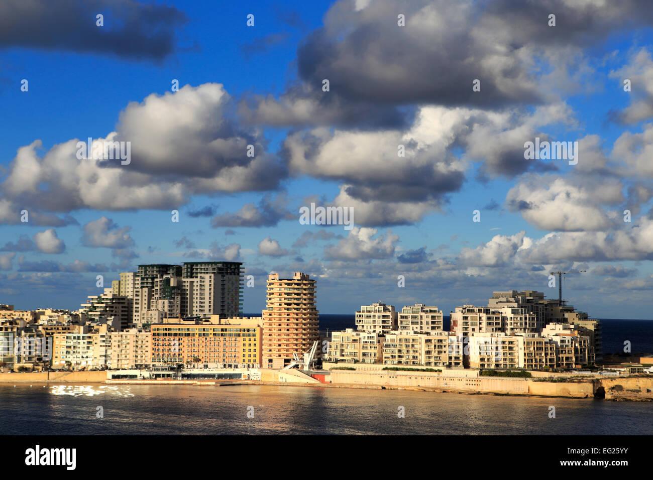 Valletta Aerial View Stockfotos Valletta Aerial View
