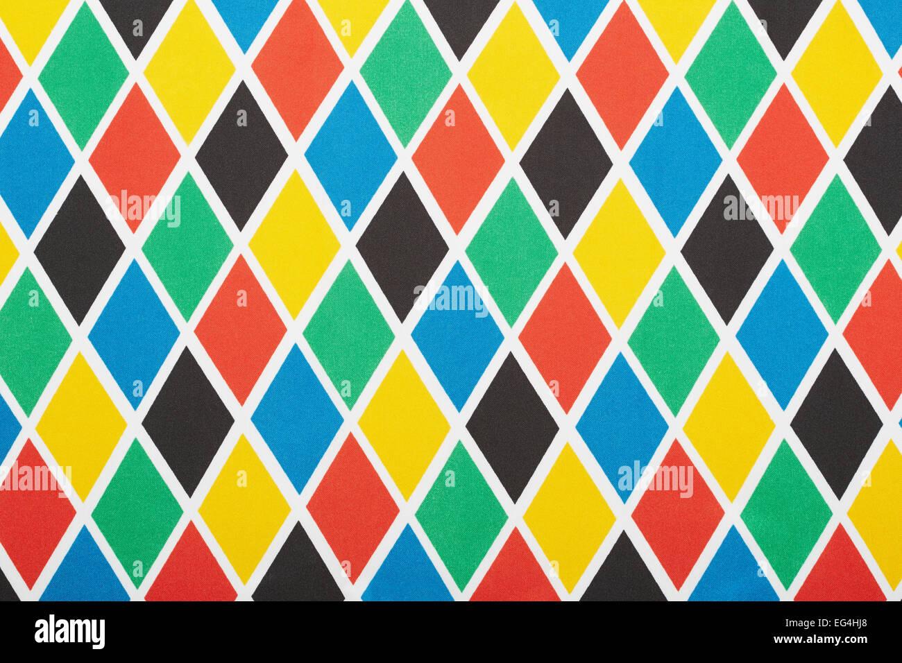 Harlekin bunte Rautenmuster, Textur-Hintergrund Stockbild