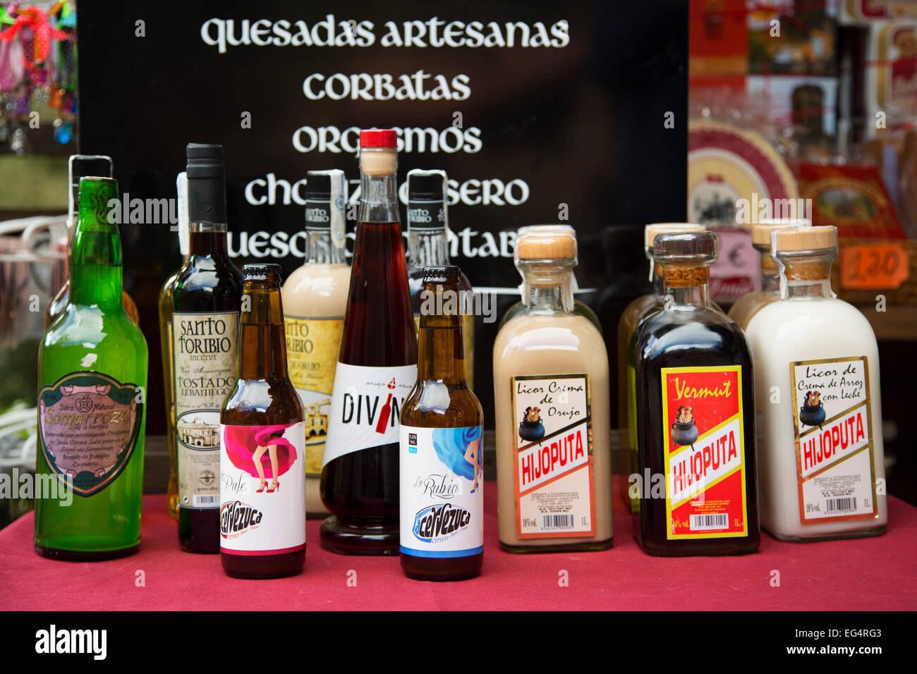 Typische Getränke Liköre Kantabrien Spanien Stockfoto, Bild ...