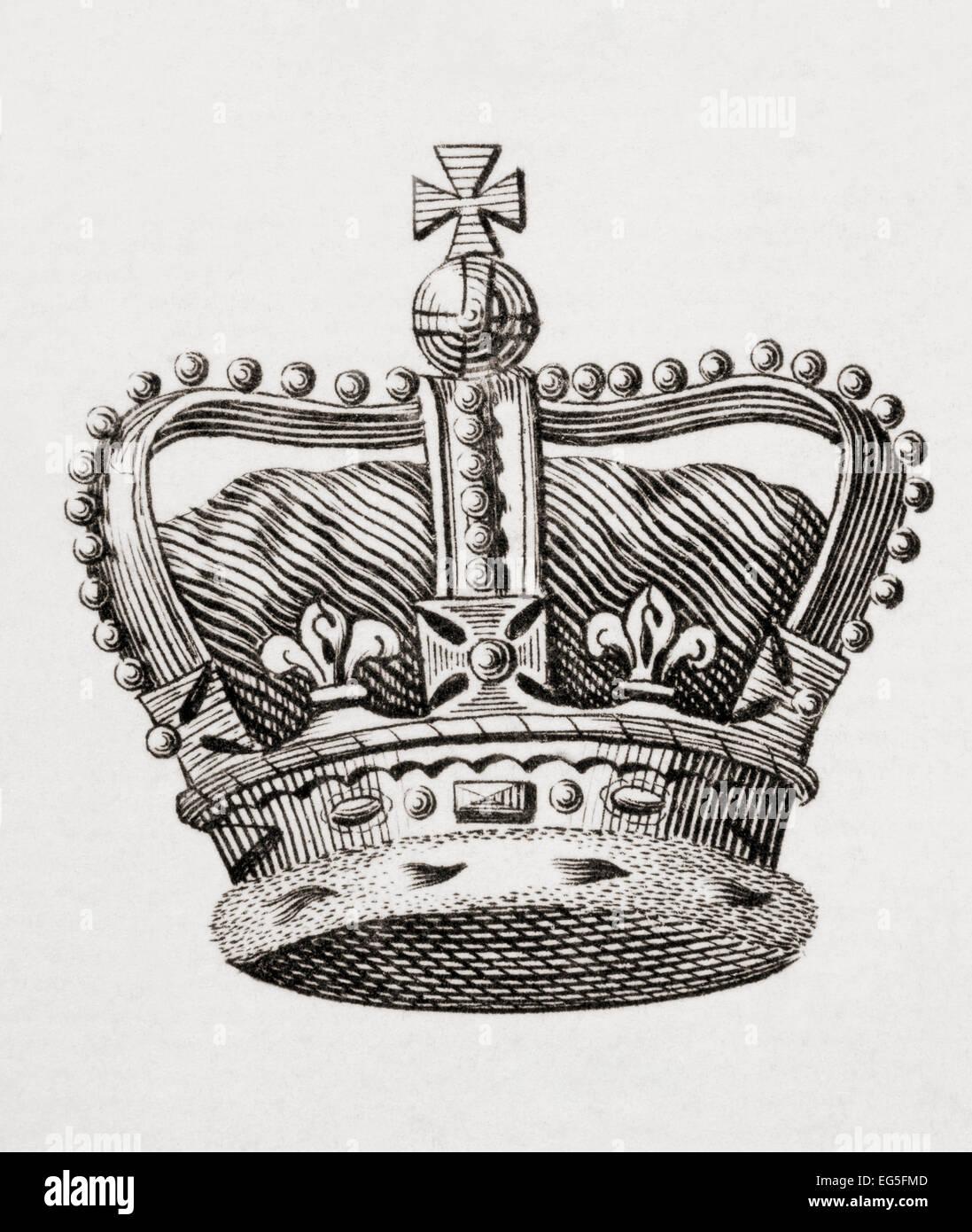 Englische krone drucken sie aus dem 18 jahrhundert for Englisch krone