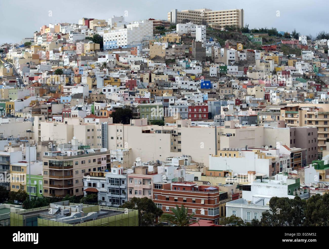 Nachbarschaft von San Juan, Las Palmas de Gran Canaria, gesehen vom Dom Stockbild