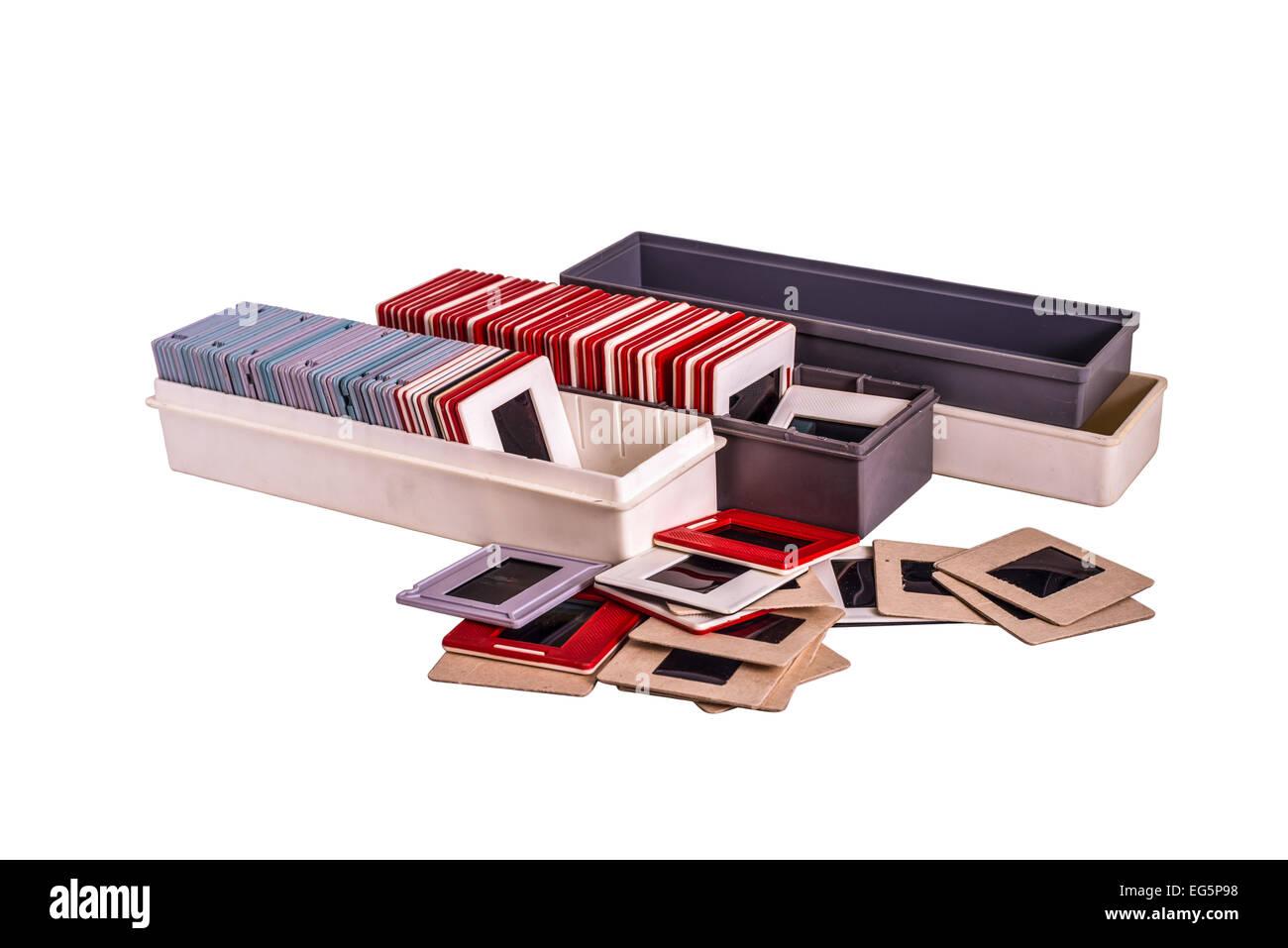 35 mm montiert Dias in der Kunststoff und Pappe verschiedene farbige ...