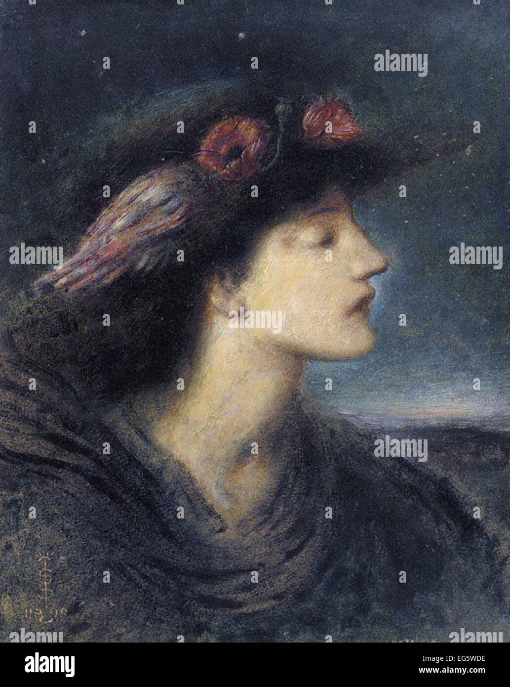 Simeon Solomon Nacht Stockbild