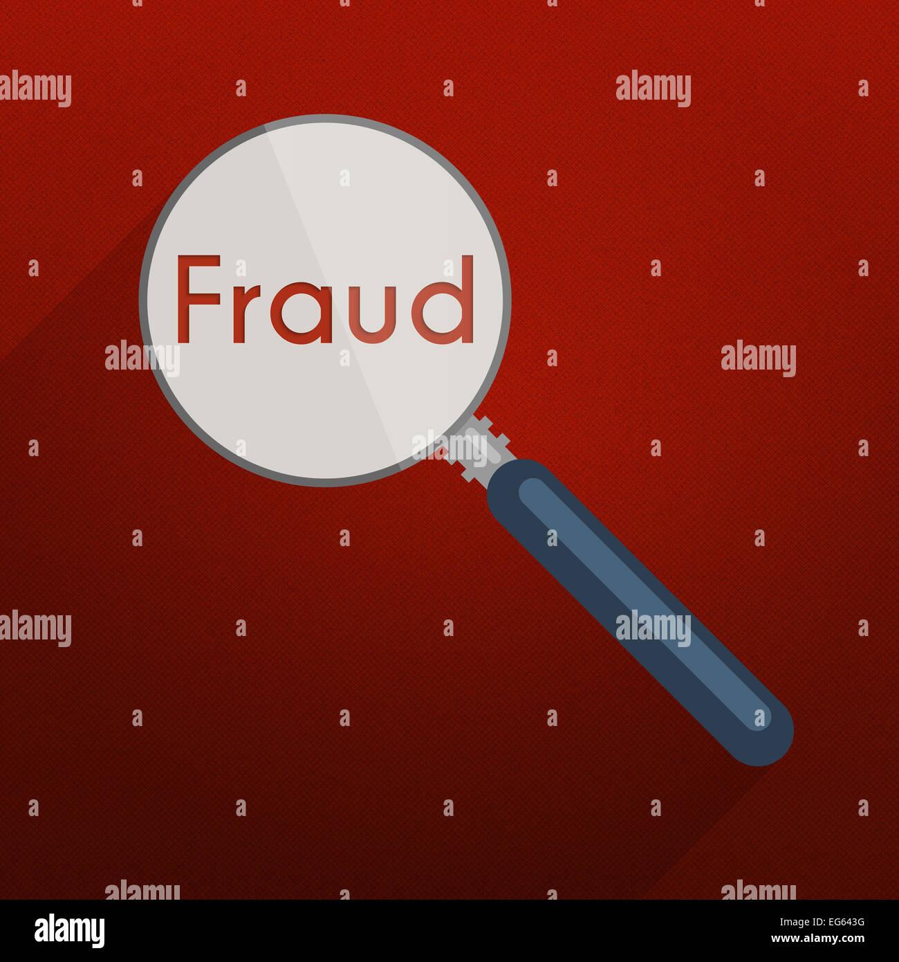 Konzept der auf der Suche nach beweisen und Indizien für Verletzung, Betrug und Steuerhinterziehung. Flaches Stockbild